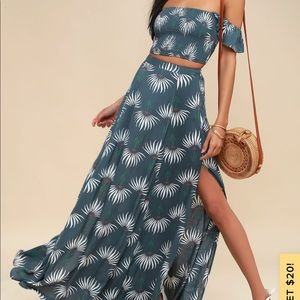 Two piece maxi dress